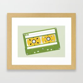 Green Cassete Framed Art Print