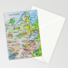 Map of the Faerie Realm Stationery Cards