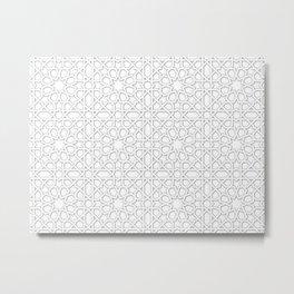 Arabic tiles A0 Metal Print