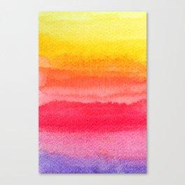 colorful watercolor brush strokes 2 Canvas Print