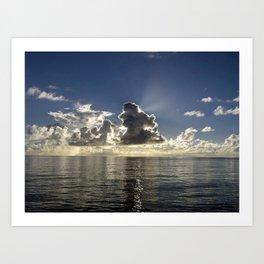CLOUD PLAY AT SEA Art Print