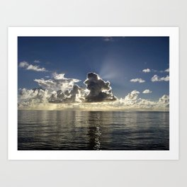 CLOUD PLAY AT SEA Art Print