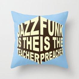 Jazz Funk Cube Throw Pillow