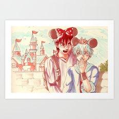 At the amusement park!  Art Print