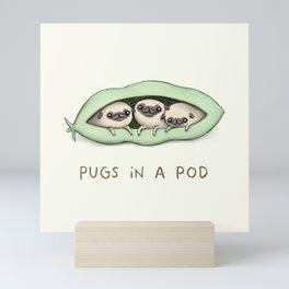 Pugs in a Pod Mini Art Print