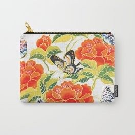 Butterflights Floral Carry-All Pouch