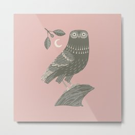 The Owl of Athena Metal Print