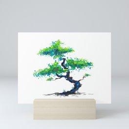 Blue Bonsai Mini Art Print