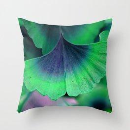 Ginkgo leaf Throw Pillow