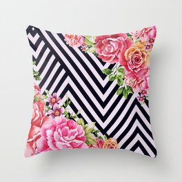 flowers geometric Throw Pillow