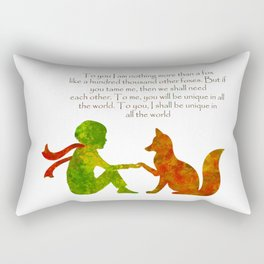 Little Prince Quote Rectangular Pillow