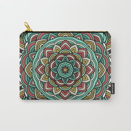 Colored mandala Carry-All Pouch