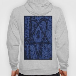 Nightfall Blue Heartagram Hoody