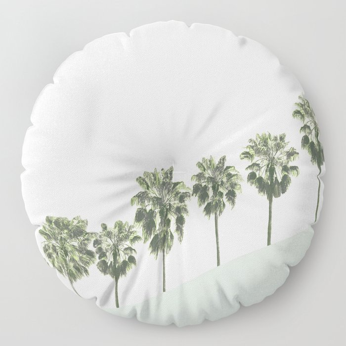 Palm Trees 4 Floor Pillow