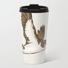 Simple Minimalist Manx Shearwater Flying Travel Mug