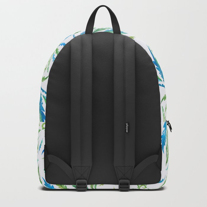 Leaves Green And Blue Backpack