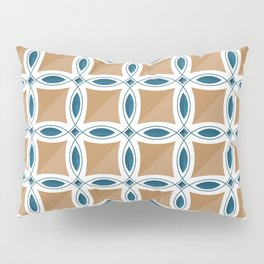 Circles with lens pattern and Diamond Pillow Sham