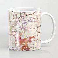 nashville Mugs featuring Nashville by MapMapMaps.Watercolors