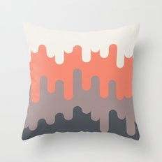 Ice Cream and Asphalt Throw Pillow