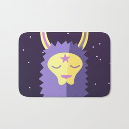 Yacana: The Space Llama Head (Lilac) Bath Mat