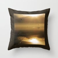 breathe Throw Pillows featuring Breathe by DebS Digs Photo Art