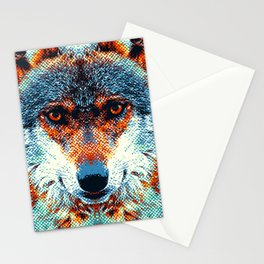 Wolf - Colorful Animals Stationery Cards