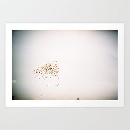 Color-Peppered Sky Art Print
