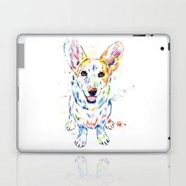 Corgi Watercolor Painting Pet Portrait Laptop & iPad Skin