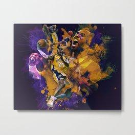 Lakers Legend Metal Print