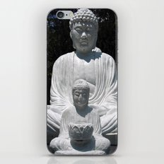 big buddha and little buddha iPhone & iPod Skin