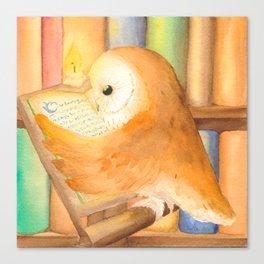 Library Owl Canvas Print