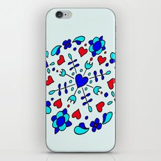 Dutch tile design 1 iPhone & iPod Skin