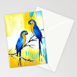 Blue Macaws Stationery Cards