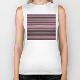 Pink and Brown Striped Pattern Biker Tank