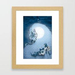 Juliana & The Wolf Spirit Framed Art Print