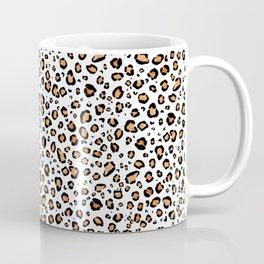 Leopard Print White Background Coffee Mug