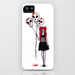 Balloons Gothic Lolita Drawing iPhone Case