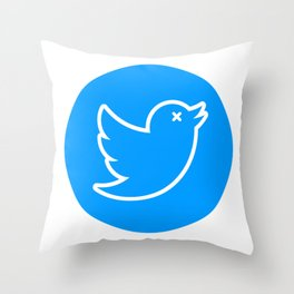 TWITTER X Throw Pillow