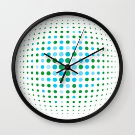 Green and blue optic Wall Clock