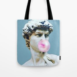 The Statue of David (Michelangelo) with Bubblegum Tote Bag