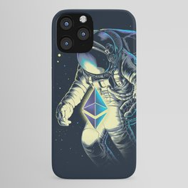 Space Ethereum - Navy Version iPhone Case