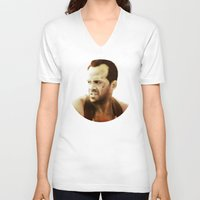 die hard V-neck T-shirts featuring Die Hard by Alexia Rose