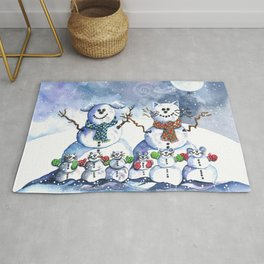 It's Snowing Cats and Dogs (and Mice too) Rug