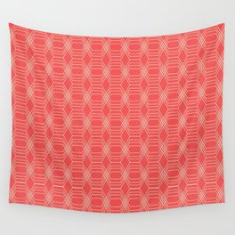 hopscotch-hex sherbet Wall Tapestry