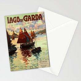 Lake Garda - Vintage Poster Stationery Cards