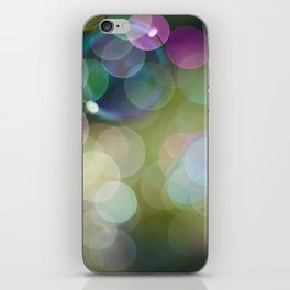 IRIDESCENT COLOURS OF SOAP FILM iPhone & iPod Skin
