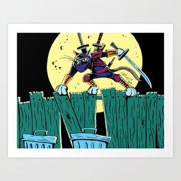 Ninja Cat! Art Print