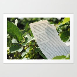 Picking the pages Art Print