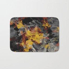 Yellow / Golden Abstract / Surrealist Landscape Painting Bath Mat