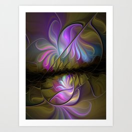 Come Together, Abstract Fractal Art Art Print